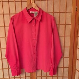 White Stag hot pink Long Sleeve Shirt